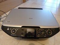EPSON STYLUS PHOTO RX585 +software CD + CD printer drawer + paperwork/instructions