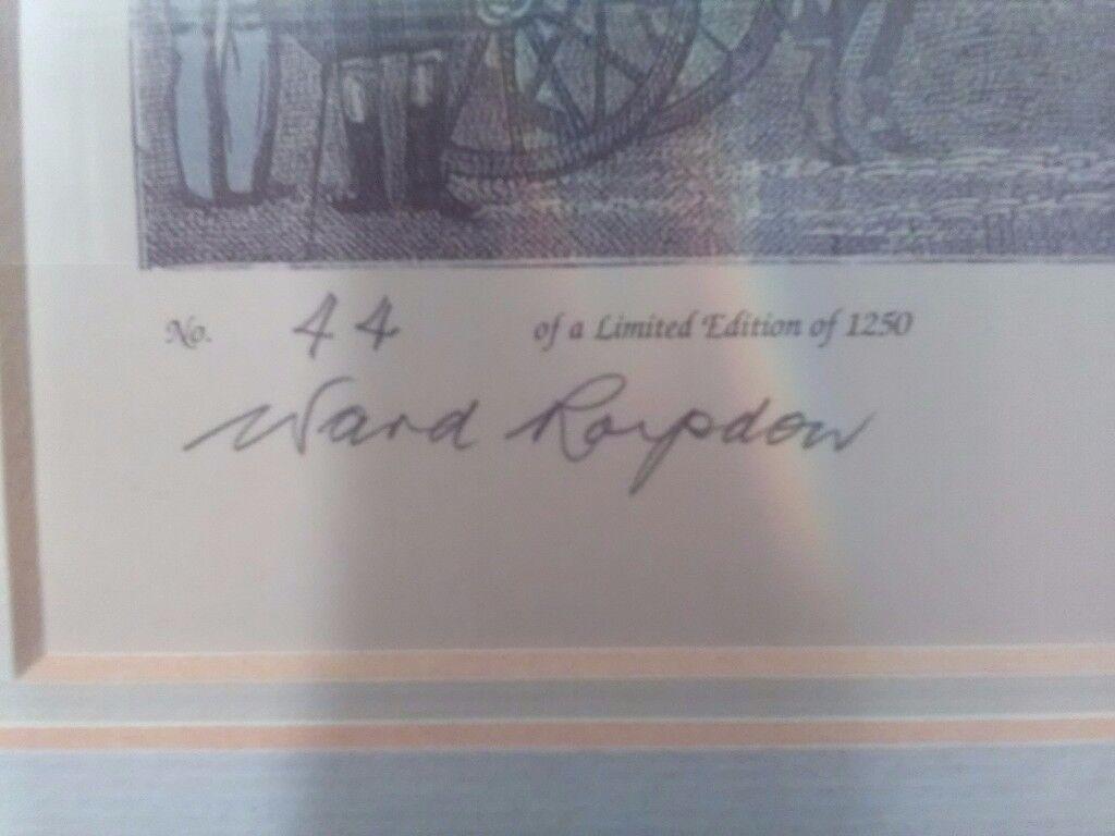 Limited edition pair of James Pollard prints