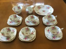 Vintage New Chelsea Fine Bone China 21pce Tea Service