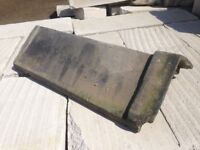 5 x Reclaimed Concrete Capped Ridge Tiles