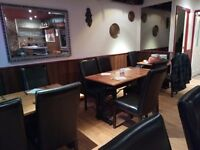 Restaurant tables and leather chairs( offers considered)
