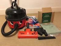 1200W Henry Hoover w/ all accessories, carpet cleaning attachment and 20+ disposable vacuum bags!