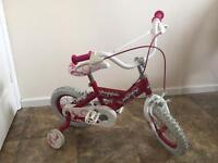 Girls bicycle age 3 to 4 yrs 12 inches wheel
