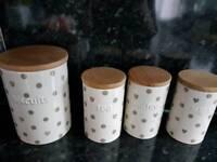 Tea coffee sugar & biscuit Pots