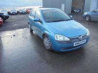 VAUXHALL CORSA 1.7 DI 5 DR. CHEAP LOW MILEAGE DIESEL