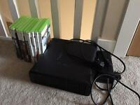 X Box 360 - 250gb with 10 games