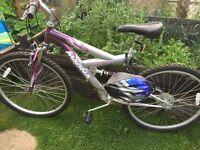 26 nch mountain bike Manga pink and silver