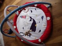 2 X MOTHERCARE ITEMS BLUE WHALE PLAY MAT AND BLUE WHALE BOUNCE CHAIR