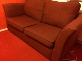 Red double sofa bed