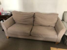 Beige Debenhams 3 Seater Sofa