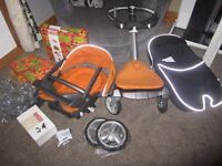 Stokke Xplory with Seat, Carry Cot & Forest Olive Accessories Kit