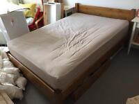 Warren Evans double bed frame + 2x under bed drawers