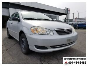 2006 Toyota Corolla CE; Local BC vehicle! LOW KMS!
