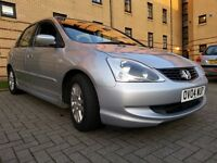 ★ 1 YEARS MOT ★ F/S/H - 10 Stamps ★ 2004 HONDA CIVIC DIESEL SE 1.7 5dr ★ NEW CLUTCH ★ 2 OWNERS