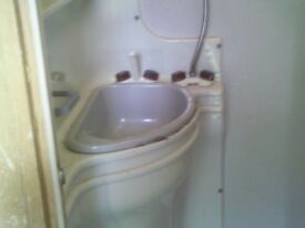 caravan corner vanity unit