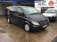 2007 black Mercedes Vito long wheel base minibus 9 seat 7months mot ready to go px welcomes
