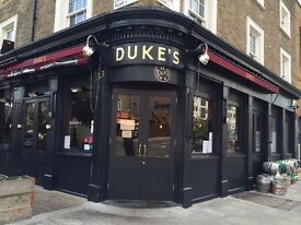 Experienced WAITER Required - Duke's Brew & Que (Haggerston)
