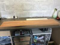 Floating shelf in oak colour. 120 x 25 x 4 cm
