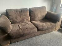 DFS 3 seater sofa bed & single seat