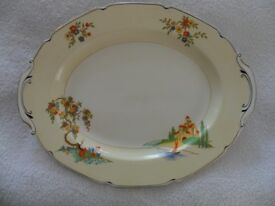 Large China Vintage Turkey Meat Platter Server
