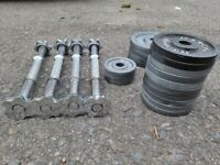 Marcy Dumbbell Set with 4 x Spinlock Bars, 24.5kg Total - DELIVERY POSSIBLE