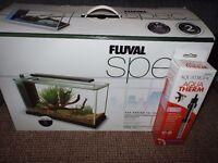 fluval spec 19ltr fish tank bn
