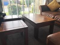 Coffee table & 2 matching side tables