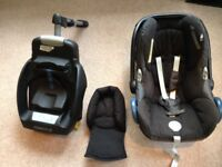 Black Maxi Cosi Cabriofix infant car seat with Isofix base