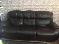 3 seater leather recliners