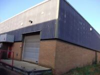 300 SQ Ft Office 1500 SQ Ft Industrial Warehouse Unit Space Available £120PW Suitable Various Trades