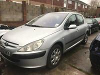 2002 PEUGEOT 307 1.6 Petrol. BREAKING FOR PARTS SPARES ONLY. 5 Door. Silver. Paint code EZR.