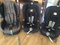 3 x toddler car seats (Britax and Maxi cosi)