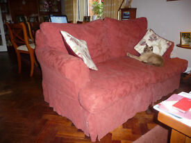 2 Sofas - 1 Three Seater and 1 Two Seater (2 sets washable covers, Autumn Rust and Cream