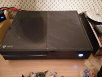 Xbox one day one edition with kinect and games