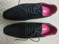 Mens Black Suede effect Shoes. Size 9.5