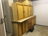 FREE! Pine kitchen cupboards and worktop