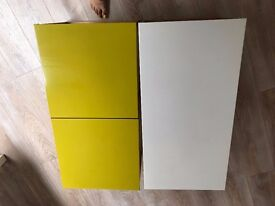 Modular, colorful white and lime green Dwell Coffee and Side Tables - £20