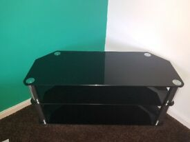 Black corner tv unit