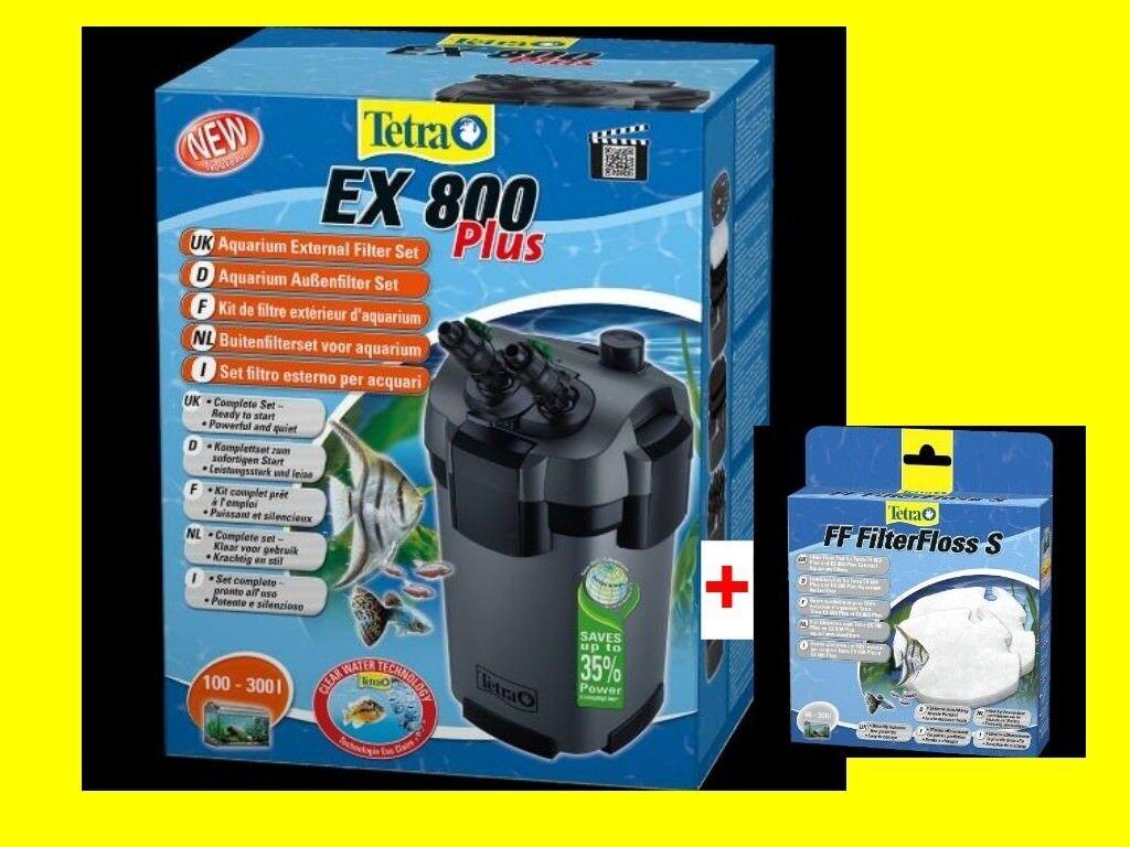 Tetra EX 800 plus Aquarium Außenfilter inkl Filtermaterial f. Aquarien 100-300L