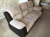 3 seat, modern, recliner very comfortable