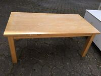 Heavy, sturdy wooden coffee table