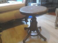Antique Bentwood Piano Stool