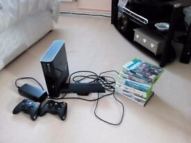 X.box 360 with x.box kinnect and games
