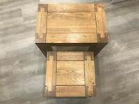 Oak Furniture Land Side tables
