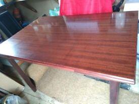 AAA Bargain price dark wood effect extending dining table, seats 6 +
