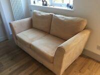 Sofa Workshop 2 seater faux suede sofa . Dimensions W 175cm, H 75cm, D 92cm. Very good condition.