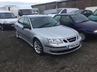 2004 SAAB AERO 93 MODEL BIG BHP POWERFULL CAR FULL HISTORY NOT LONG BEEN SERVICED LEATHER CD AIR PX?