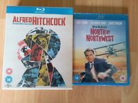 ALFRED HITCHCOCK THE MASTERPIECE COLLECTION + NORTH BY NORTHWEST BLU RAYS