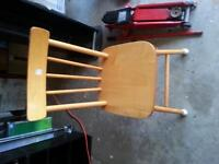 Solid pine chair plant or outside or for young one
