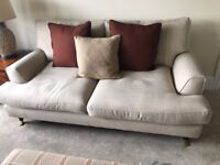 2 x Three-Seater Linen Sofas *As New* Can be bought individually!